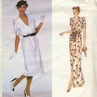 Vintage VOGUE Sewing Pattern: 2165 Givenchy Dress, Vogue Paris Original, size 10