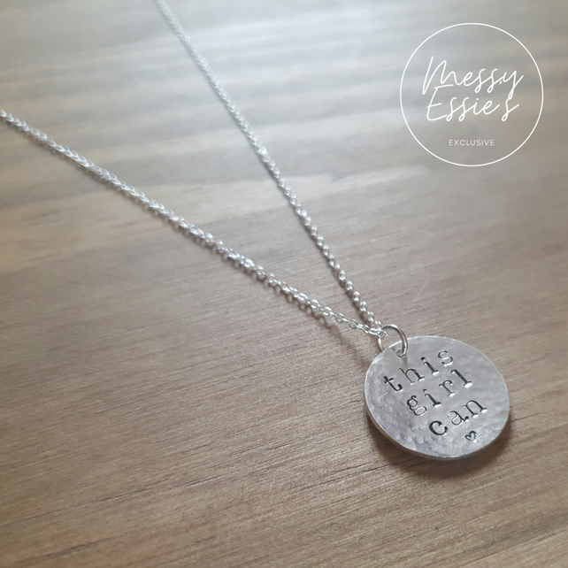 'This girl can' necklace