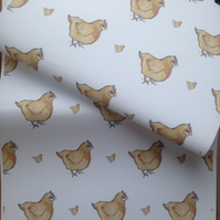 Chicken,wrapping paper,gift wrap,for chicken lovers,for chicken farmers
