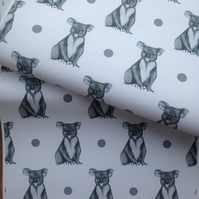 Koala bear, wrapping paper, gift wrap , for koala bear lovers