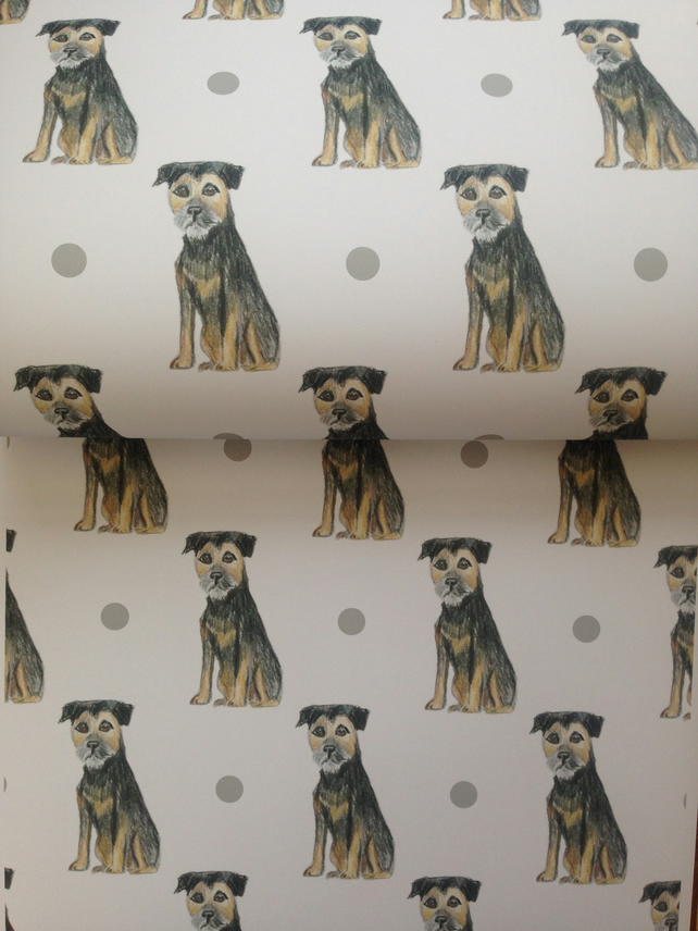 Border terrier,wrapping paper,gift wrap, for dog lovers, for border terrier love