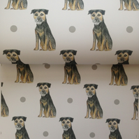 Border terrier,wrapping paper,gift wrap, for dog lovers, for border terriers