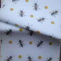 Honey bee, bee, wrapping paper, gift wraps, for bee lovers,for bee keepers