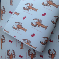 You've met your lobster, wrapping paper,gift wrap, for weddings, wedding gift