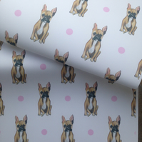 French bulldog ,wrapping paper, gift wrap, for French bulldog lovers, frenchies