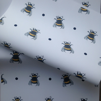 Bee, bumble bee, wrapping paper, gift wrap, for bee lovers, bees