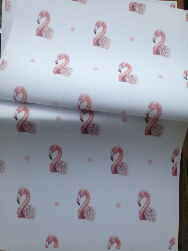 Flamingo, wrapping paper, gift wrap, for flamingo lovers
