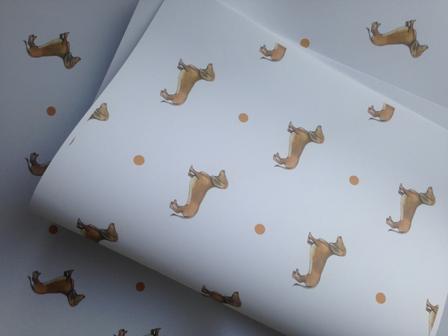 Sausage dog, daschund, wrapping paper, gift wrap