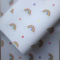 Rainbow, wrapping paper, gift wrap, for  rainbow lovers