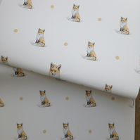 Fox ,wrapping paper, gift wrap, for fox lovers