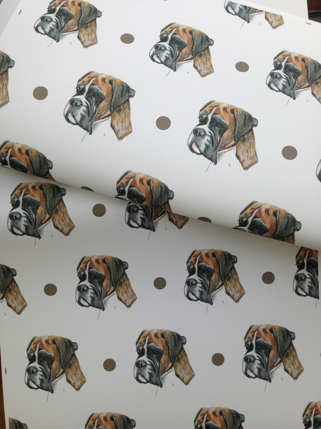 Boxer dog,wrapping paper, gift wrap, for boxer dog lovers, for dog lovers