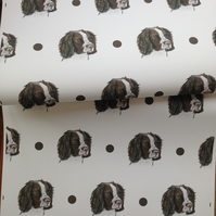 Springer spaniel,wrapping paper,gift wrap, for springer lovers