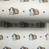 Guinea pig, wrapping paper, gift wrap, for guinea pig lovers, read description