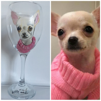 Pet portrait, wine glass, for pet owners, for dog lovers, for cat lovers