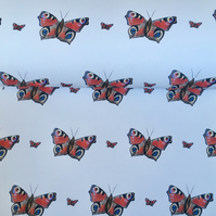 Butterfly, wrapping paper, gift wrap, for smaller gifts, read description
