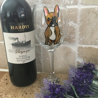 French bulldog, Frenchie, wine glass, Frenchie gift