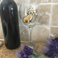 Cockapoo, wine glass, for cockapoo lovers, cockapoo gift