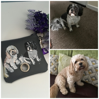 Pet portrait , poo bag holder, for dog owners, for dog lovers, dog gift