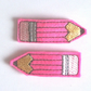 Pencil Crayon Hair Clips - Hot Pink