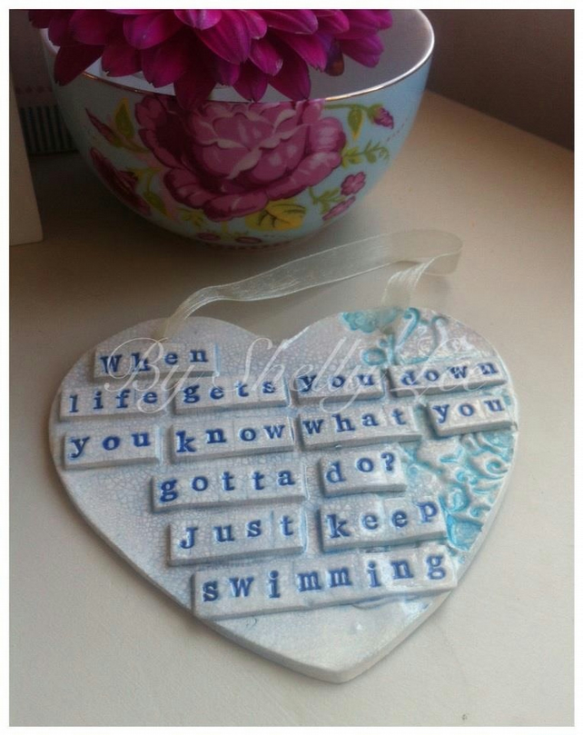 ceramic heart disney s quote from finding nemo folksy
