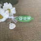 Porcelain peas in pod key ring, Ha-Peas