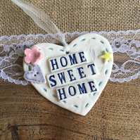Ceramic heart Home Sweet Home