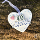 Porcelain heart, wedding anniversary 40 years together