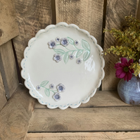 SALE Handmade porcelain decorative plate.