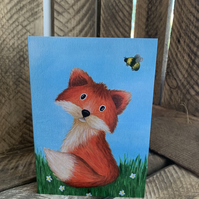 Felix the Fox, blank cards from original paintings A6
