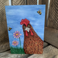 Gladys the Chicken, blank cards from original paintings A6