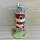 Ahoy matey! Handmade pottery porcelain lighthouse, lamp,