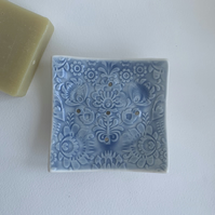 Beautiful handmade porcelain soap dish