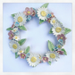 Beautiful handmade porcelain flower wreath. Daisy