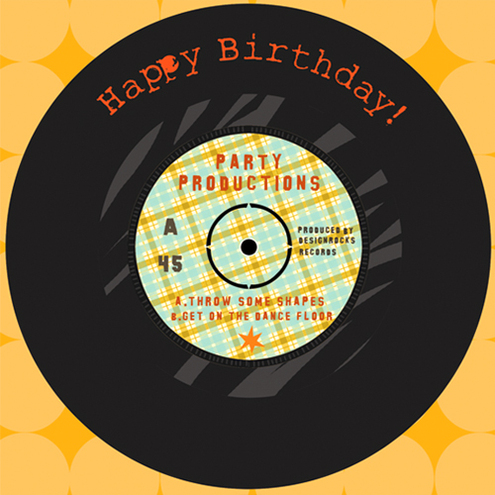 Retro Vinyl Birthday Card