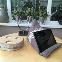 iPad stand, Tablet stand, Kindle stand, Phone stand, Bean bag