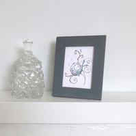 ACEO Picture Frame in Grey