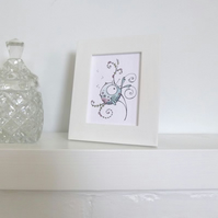 ACEO Picture Frame in White