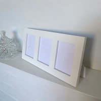 ACEO Triple Frame in White