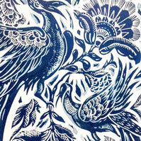 Blue china Lino print