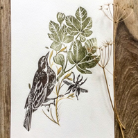 Bird and foliage no4