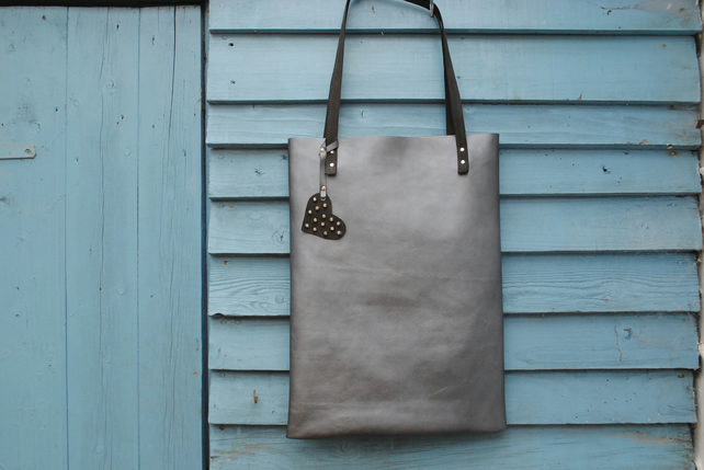 Leather Tote Bag by Hen & Till Handbags on Folksy