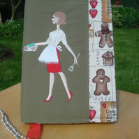 Baking A5 Journal and fabric cover
