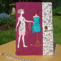 Seamstress A5 Journal with Fabric cover