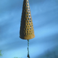 Tall Amber Textured Ceramic Bell