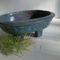 Grey-Blue Ceramic  Bonsai Pot