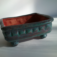 Sea Green Ceramic Bonsai Pot