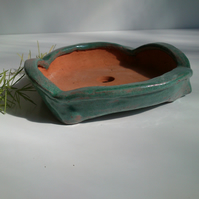 Aqua green Bonsai pot