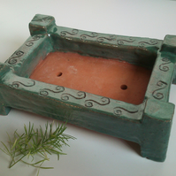 Scroll Bonsai Pot