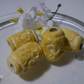 Large Yellow Textured Beads