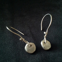 Rustic Fine Silver Nugget Earrings
